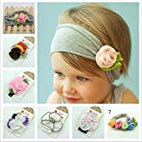 Investor Baby Cotton Stretch Pretty Rose Tulip Flower Headbands(7 Pack)