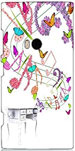 Snoogg Floral Background Designer Protective Back Case Cover For Nokia Lumia 920