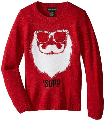 Alex Stevens Big Girls' Sup Santa, Red Combo, Large/14