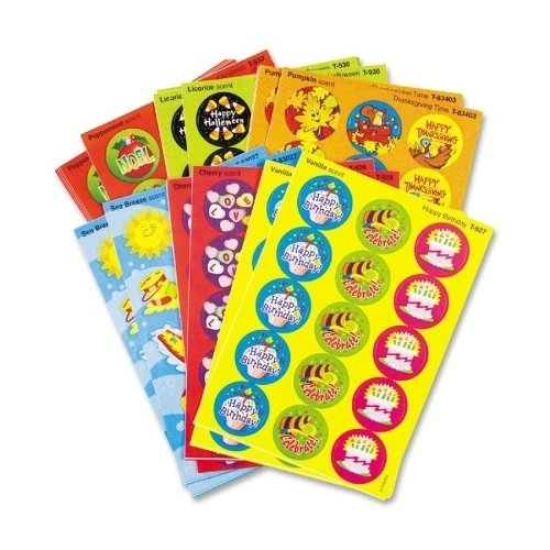 Trend Enterprises Seasons/Holidays Stinky Stickers,Round,Acid-free,435/PK SKU-PAS944650