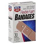 Rite Aid Bandages, Flexible Foam, 30 bandages
