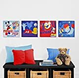 Disney Mickey Mouse Canvas Wall Art (4-Piece)