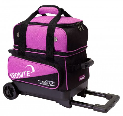 Ebonite Transport I Bowling Ball Bag, Black/Pink