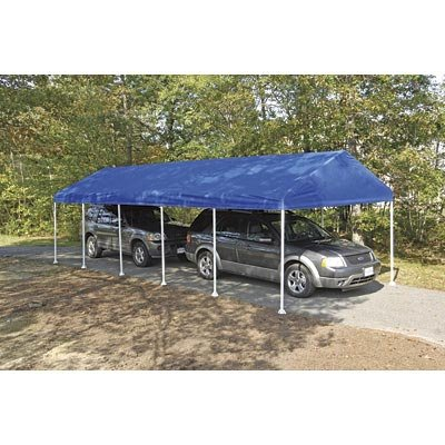 Images for ShelterLogic 10 x 20- Feet Canopy 2- Inch 4-Rib Frame, Blue Polyester Cover