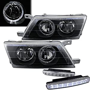 Amazon.com: 1995-1999 Nissan Sentra Halo Headlights + 8 Led Fog Bumper