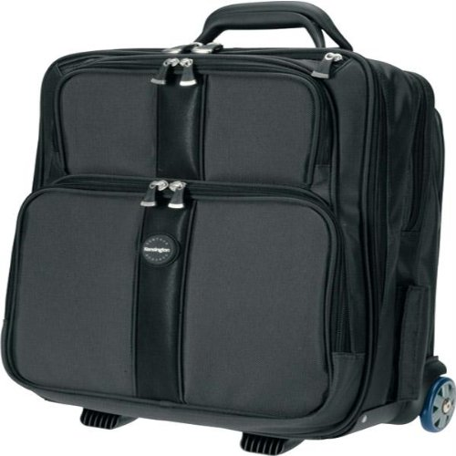"Kensington 17"" Contour Ballistic Nylon Overnight Notebook Rolling Case"