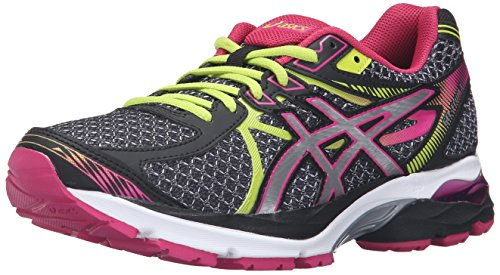 ASICS Women's Gel-Flux 3 Running Shoe, Black/Silver/Sport Pink, 9 M US