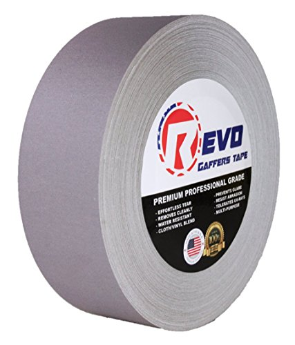 revo-premium-professional-gaffers-tape-2-x-60-yds-made-in-usa-gray-gaffers-camera-tape-stage-tape-be