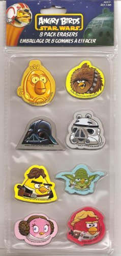 Angry Birds Star Wars 8 Pack Erasers