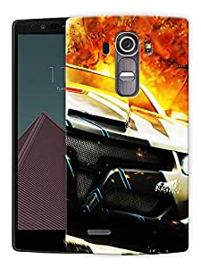 """Speed Car Sports Printed Designer Mobile Back Cover For """"LG G4"""" By Humor Gang (3D, Matte Finish, Premium Quality, Protective Snap On Slim Hard Phone Case, Multi Color)"""