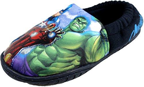 Per bambini Marvel Avengers luce up Pantofole Slip On taglia UK 10-3, blu (Navy), 28 EU Bambini