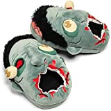 Plush Funny Horrible Zombie Adult Unisex Slippers Shoes Warm Winter Home Footwear One Size Fits Most