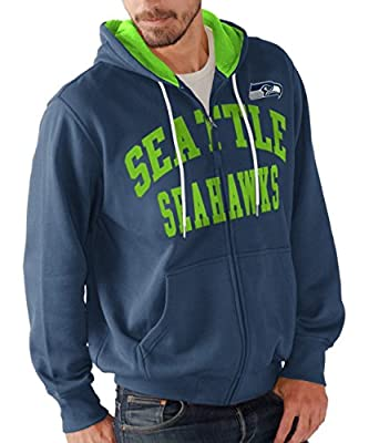 "Seattle Seahawks NFL G-III ""Pass Attempt"" Full Zip Hooded Men's Sweatshirt"