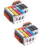 Multipack - 12 compatible XL Ink cartridges CANON PGi-550XL / CLI-551XL - for CANON Pixma MG6350