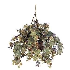 Grape Leaf Hanging Basket Silk Plant