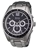 Hugo Boss - 1512404 - Gents Watch - Analogue Quartz - Black Dial - Chronograph - Stainless Steel Silver Strap