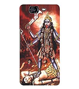 Fuson 3D Printed Lord Kali Designer Back Case Cover for Micromax Canvas Knight A350 - D505