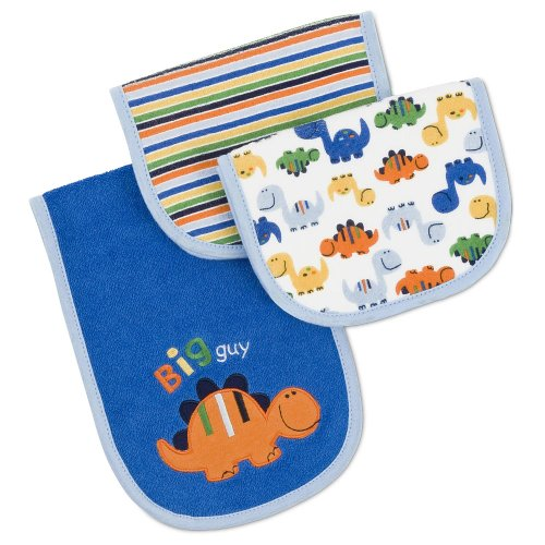 Gerber Terry Burp Cloth - 'Big Guy' - Dark Blue - 3 Pack front-637462