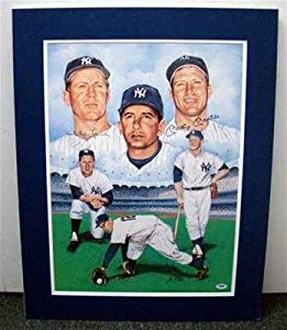 Mickey Mantle & Whitey Ford Signed 18x24 Matted Print PSA COA New York Yankees -... by Sports Memorabilia
