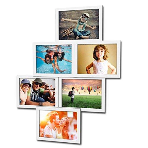 holz fotogalerie f r 6 fotos 13x18 cm 3d 603 bilderrahmen bildergalerie fotocollage. Black Bedroom Furniture Sets. Home Design Ideas
