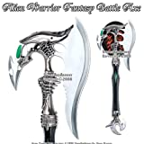 Alien Warrior Fantasy Battle Axe w/ Dagger & Plaque New