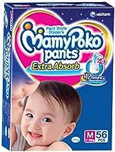 Mamy Poko Medium Size Baby Diapers (56 count)
