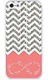 Chevron Pattern Grey White Live the Life You Love, Love the Life You Live- Apple iPhone 5 Case - iPhone 5s Case - Hard Plastic Case
