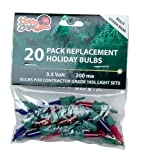 Holiday Bright Lights Contractor Replacement Bulb Set 3.5 V Green Base Multi Bulb