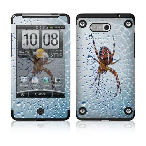 Dewy Spider Protective Skin Cover Decal Sticker for HTC Aria Cell Phone