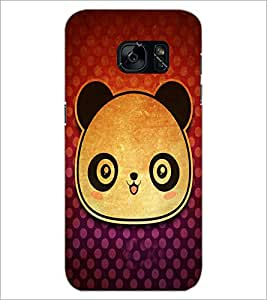 PrintDhaba Panda Face D-3417 Back Case Cover for SAMSUNG GALAXY S7 (Multi-Coloured)