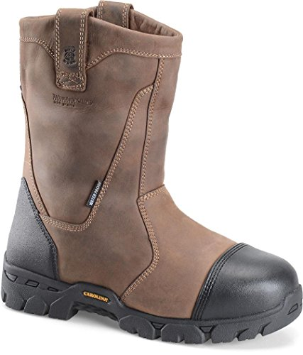 Carolina Men'S Insulated Waterproof Broad Safety Toe Wellington Tan Crazy Horse Lthr 14 D Us