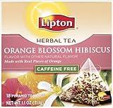Lipton Herbal Orange Blossom Hibiscus Pyramid Tea Bags 1.1 oz
