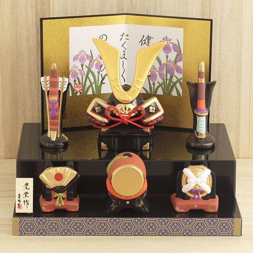 薬師窯五月人形錦彩段飾り出世兜