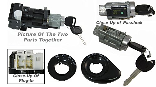 APDTY 035812 & 035813 Ignition Lock Cylinder & Electrical Ignition Starter Switc (1999 Grand Am Ignition Switch compare prices)