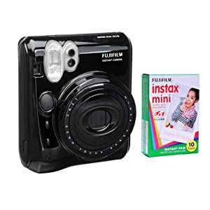 Fujifilm Instax Mini 50 Kit and One Fujifilm Instax Mini Film with 10 Exposures FU64-INM50KK10 (Black)