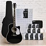Esteban Reflections Acoustic Electric Guitar Package w/ Amp, 10 DVDs and Accessories