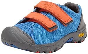 KEEN Riggins Hiking Boot (Toddler/Litte Kid/Big Kid),Strong Blue/Spicy Orange,13 M US Little Kid