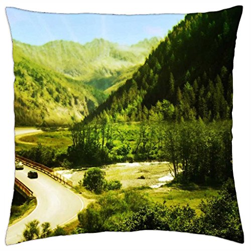beyond the mountains - Throw Pillow Cover Case (18