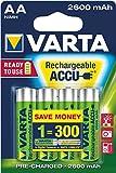 Varta Professional - Batterie AA, 1,3 V, 2500 mAh, 10 confezioni da 4