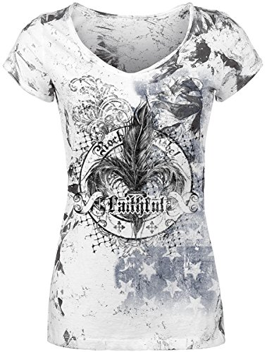 Rock Rebel by EMP Faithful Maglia donna grigio XL