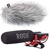 Rode Videomic Rycote Richtmikrofon + KEEPDRUM WS-WH Fell-Windschutz