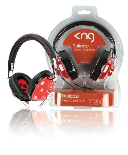 KNG Bulldozr Chaos Constructor Designer Headphones - Red