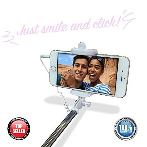 selfie stick the easy pro selfie stick 3 in 1 self portrait monopod extendable selfie stick. Black Bedroom Furniture Sets. Home Design Ideas