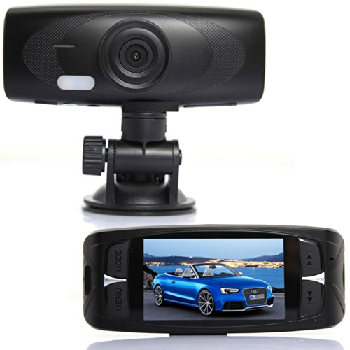 HappyGo® (5.0MP, G-Sensor, 4x digitaler Zoom)-Auto-Kamera Dashcam Blackbox DVR 1080P Full HD Nachtsicht