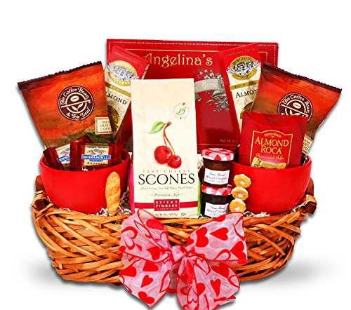 Coffee Bean & Tea Leaf Valentines Day Morning Gift Basket for Men or Women