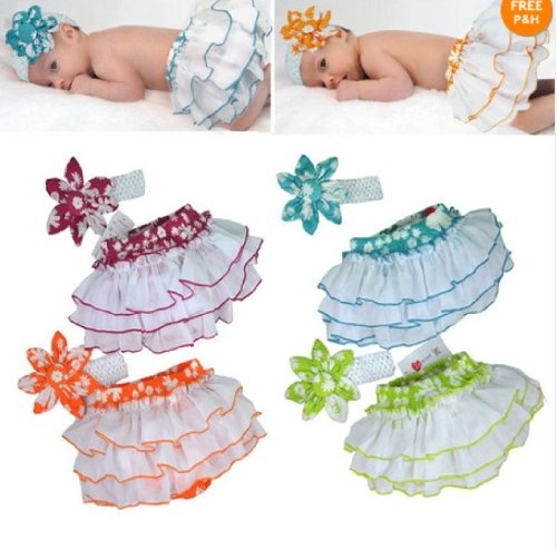 Baby Girls Clothing Ruffle Pants Bloomers Nappy