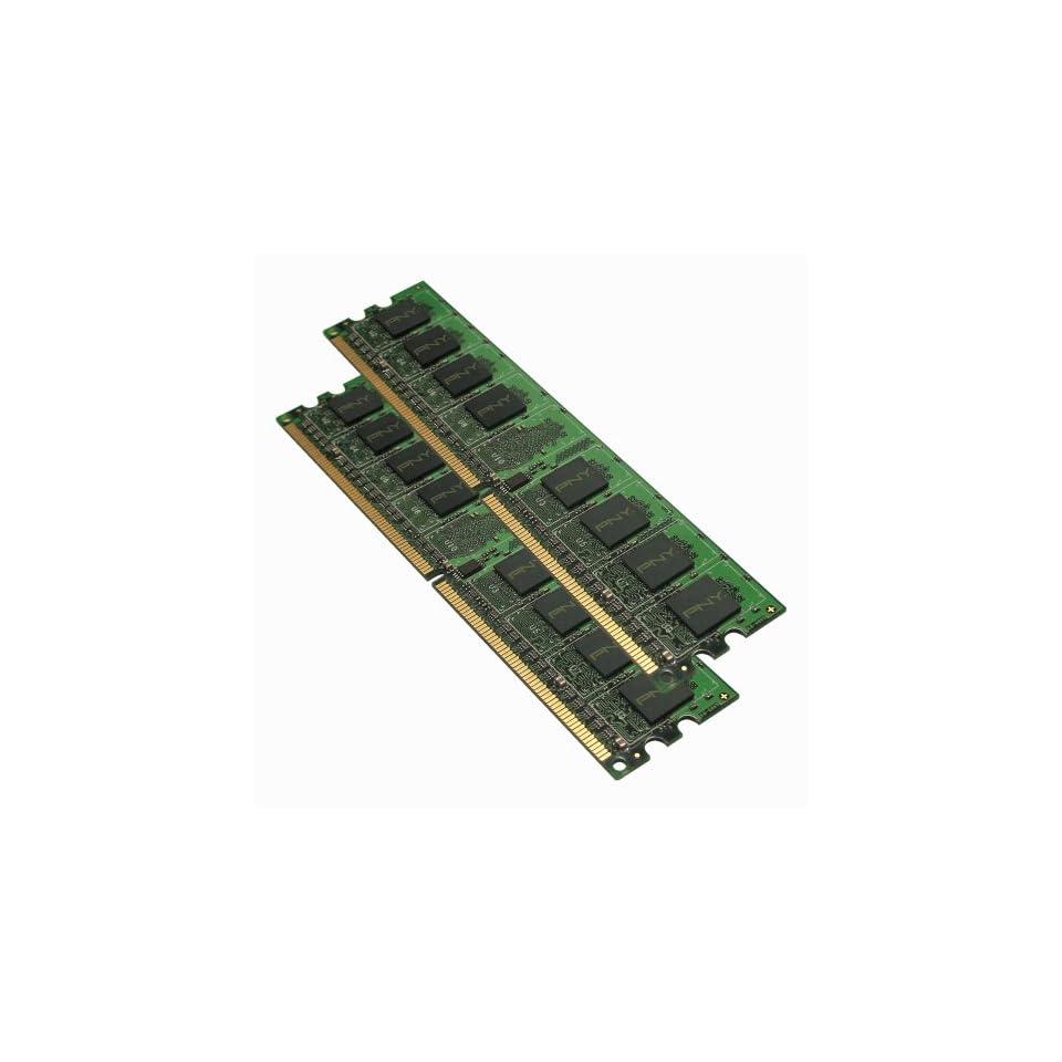 PNY OPTIMA 2GB (2x1GB) Dual Channel Kit DDR2 667 MHz PC2 5300 Desktop DIMM Memory Modules MD2048KD2 667 Electronics