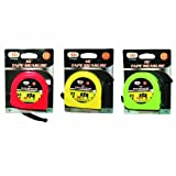 "72 Pack Wholesale Lot 16' x 1/2"" Tape Measure Assorted Colored Tape Measure"