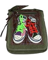 LOOKID 5006 Umhängetasche mit Chucks, crossbag in 2 Größen 35x32x9