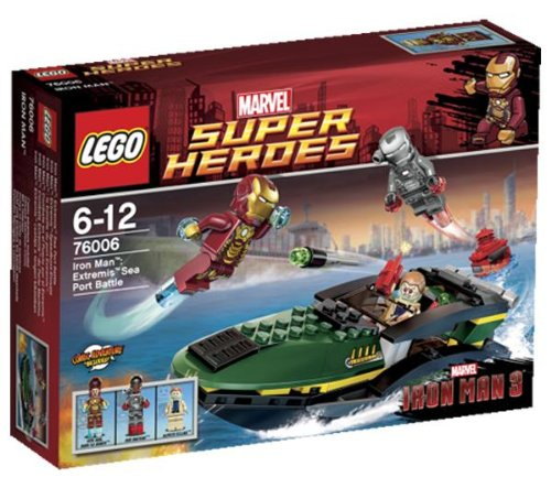 LEGO Super Heroes - Marvel - 76006 - Jeu de Construction - La Bataille du Port Extremis - Iron Man